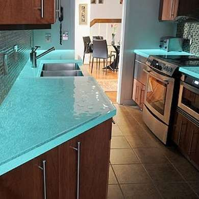 Lovely Blue Countertop 6 Of 7 | Photo: Post Gazette.com Glowing Success Fit