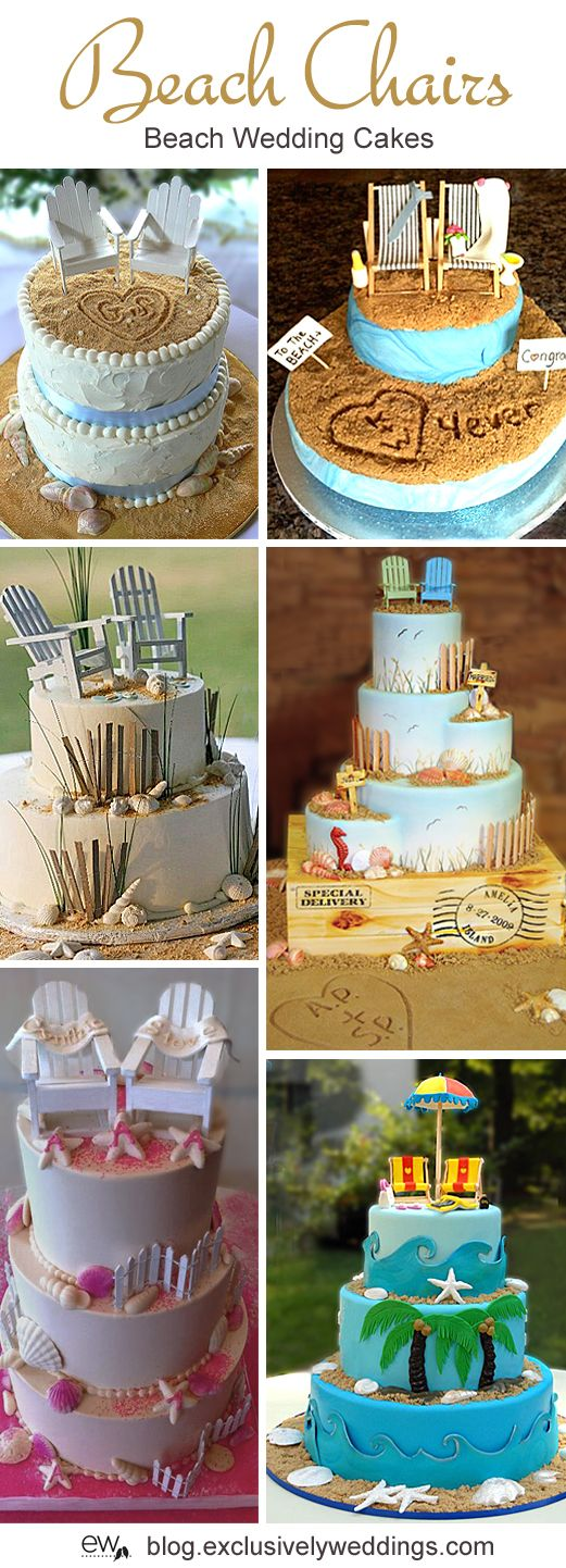 Five Perfect Designs for Your Beach Wedding Cake - Read more http://blog.exclusivelyweddings.com/2014/04/28/five-perfect-designs-for-your-beach-wedding-cake/