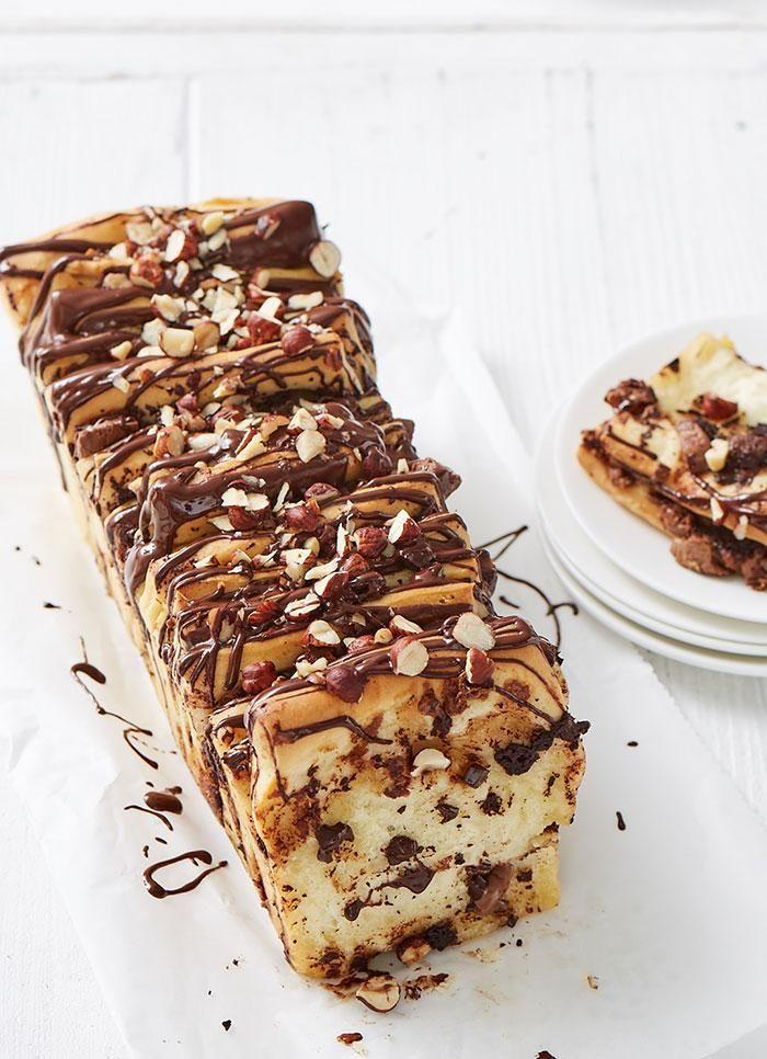 Schokoladen-Nougat-Zupfbrot Rezept - [ESSEN UND TRINKEN]