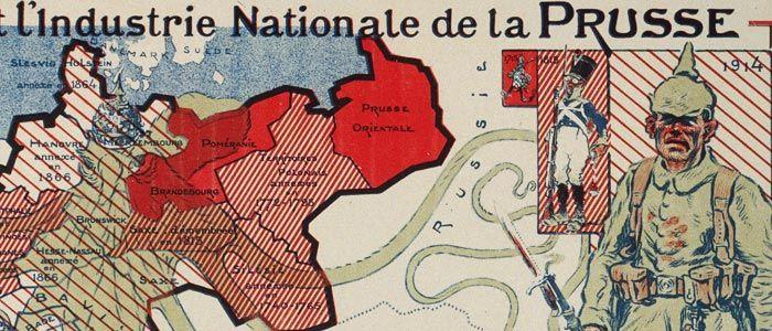 #French anti-#German #propaganda #map (1914), #WWI