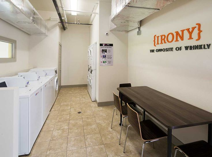 laundry room is available for residents of amli at mueller apartments