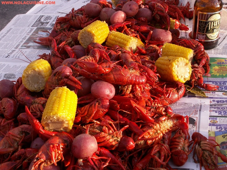 Crawfish Boil Recipe   Nola Cuisine  I sure miss the crawfish boils- maybe I can replicate one with local seafood instead...