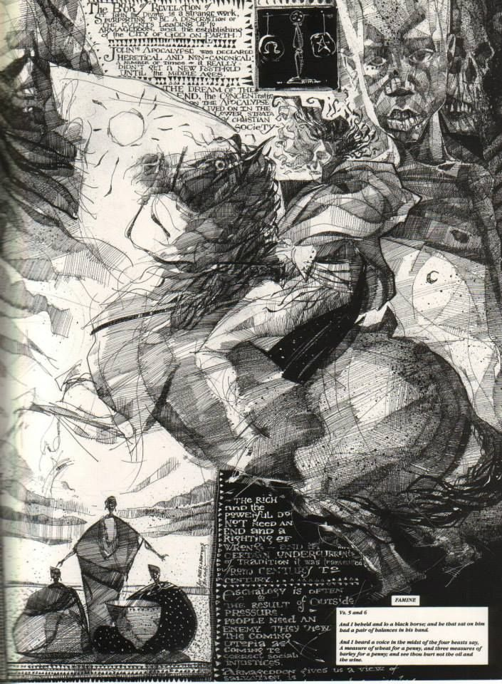Dave McKean from Signal to Noise with elements of that Napoleon on a horse painting