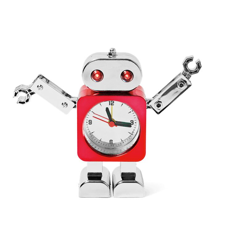 According to the three laws of robotics, a robot must obey orders from a human. So just tell this robot here what time to wake you up in the morning and he will. Even if it's super early. Alarm clock, £4