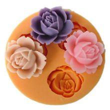 Rose flower silicone stampo per torta del fondente che decora biscotto al cioccolato sapone fimo del polimero di resina(China (Mainland))