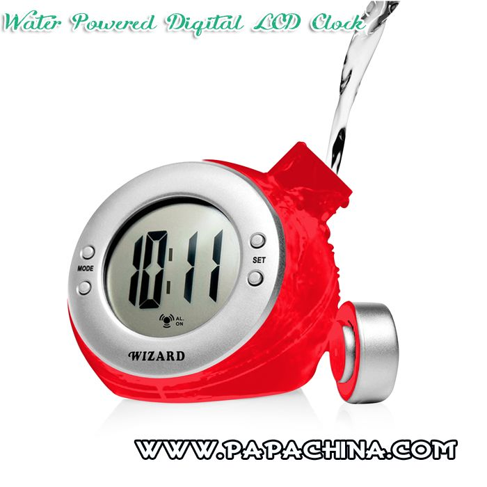 Water Powered Digital LCD Clock Wholesale Supplier from PapaChina.com #clock