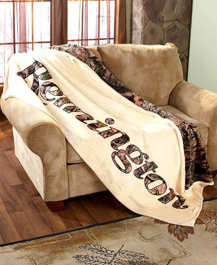 Flexsteel Sofa REMINGTON SHERPA BACKED THROW BLANKET OUTDOORSMAN HUNTER CAMO HOME DECOR AFoYFT