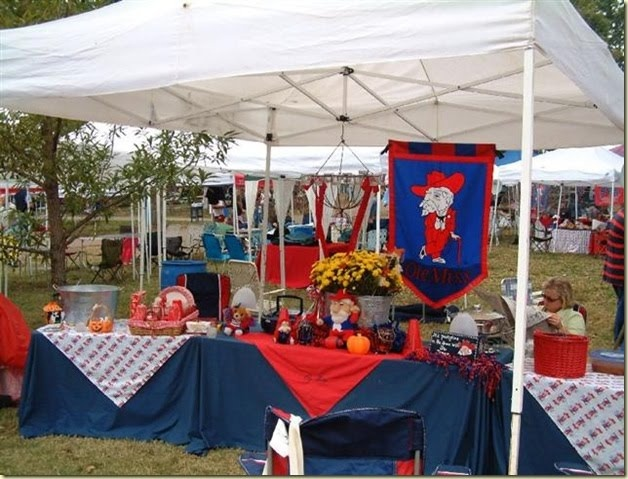 Ole Miss tailgate decor. This is how we do it down South!