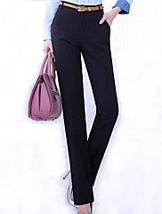 Grote maten / Werk-Polyester / Spandex-Micro-elastisch-Kostuum-Broek-Vrouwen