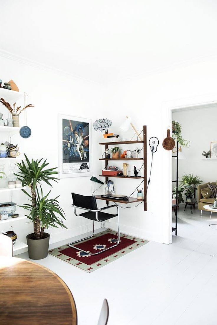 my scandinavian home: workspace in the corner of the relaxed Danish home of Line Stützer