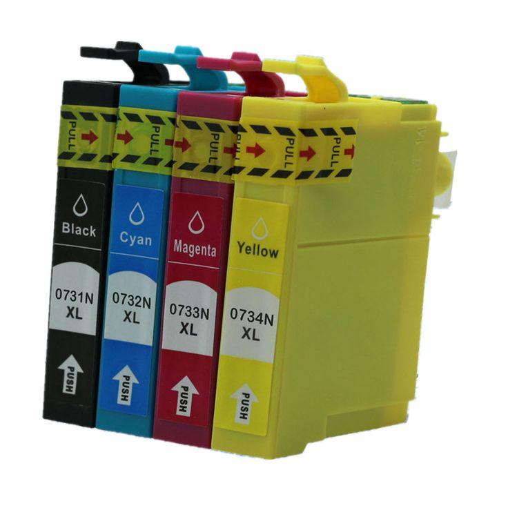 3 Set T0731N T734N T073N 73N T1051 T1054 E-731N Inkjet Ink Cartridges For Epson Stylus CX9300F wireless edition T21 T30 Printer #Affiliate