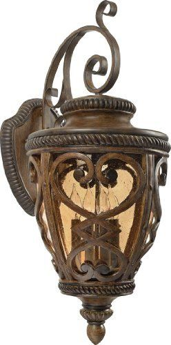 Quoizel FQ8314AW01 French Quarter 4-Light Outdoor Wall Fixture, Antique Brown by Quoizel. Save 39 Off!. $432.39. From the Manufacturer                Reminiscent of the iron details often seen of the most-loved areas of New Orleans, this historic design is made of cast aluminum and clear amber seedy glass that casts a warm glow to welcome visitors to your doorstep.                                    Product Description                Reminiscent of the iron details often seen in the…