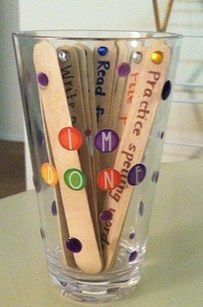 """Make an """"I'm done!"""" cup for early-finishers. 
