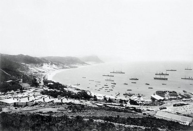 The naval base of Simon's Town in 1900