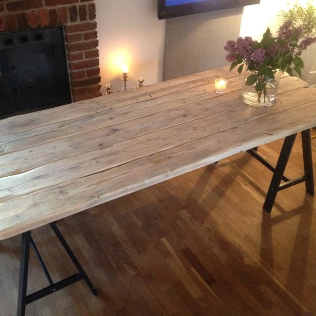 DIY board tables, industri, rustic-table
