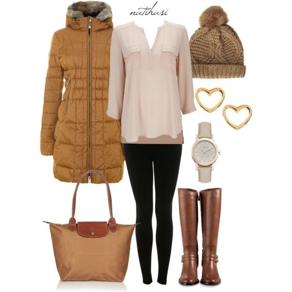 """Brown Winter Outfit"" by natihasi on Polyvore"