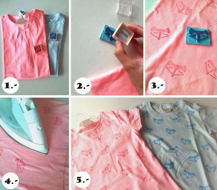 ... Y UN POCO DE DISEÑO: DIY: Estampar camisetas