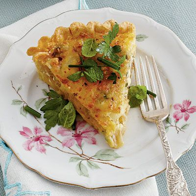 Caramelized Onion Quiche -     Flat-leaf parsley, chives, and mint add a fresh, pretty finish to tasty dish.
