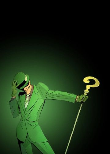 The Riddler! Best Batman villian EVER!!! Hope he makes an appearance  in the next batman movie!
