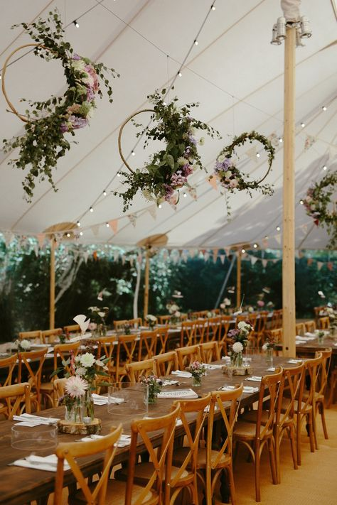 Hanging floral hoops. Images by Ruth Atkinson