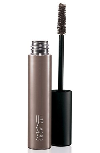 M·A·C Brow Set. A brush-on gel that grooms and slicks brows into shape without flaking or stiffening them. May also be used on lashes, sideburns and chops—any facial hair.