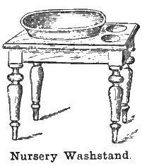 Nursery washstand for child - 1870s   http://www.homethingspast.com/victorian-nursery-furniture/