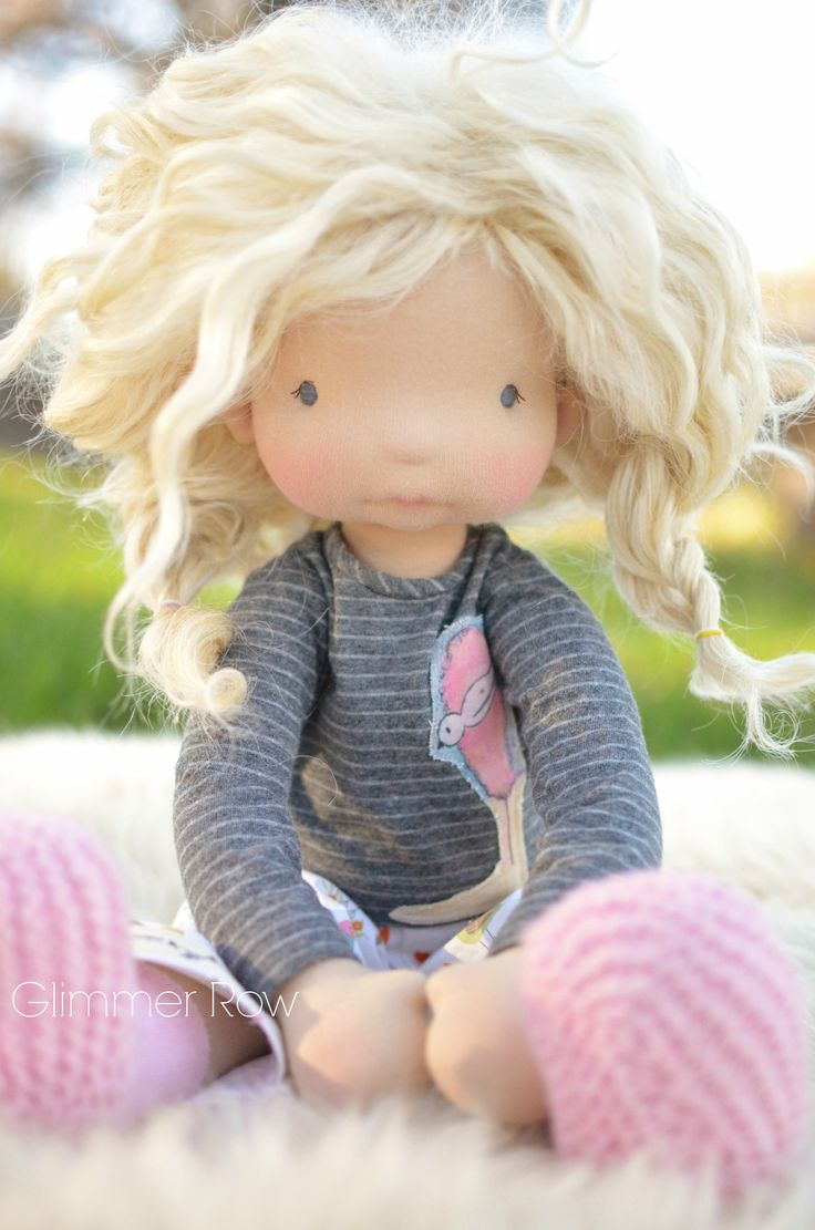 "20"" natural fiber, waldorf inspired, cloth art doll by Glimmer Row"