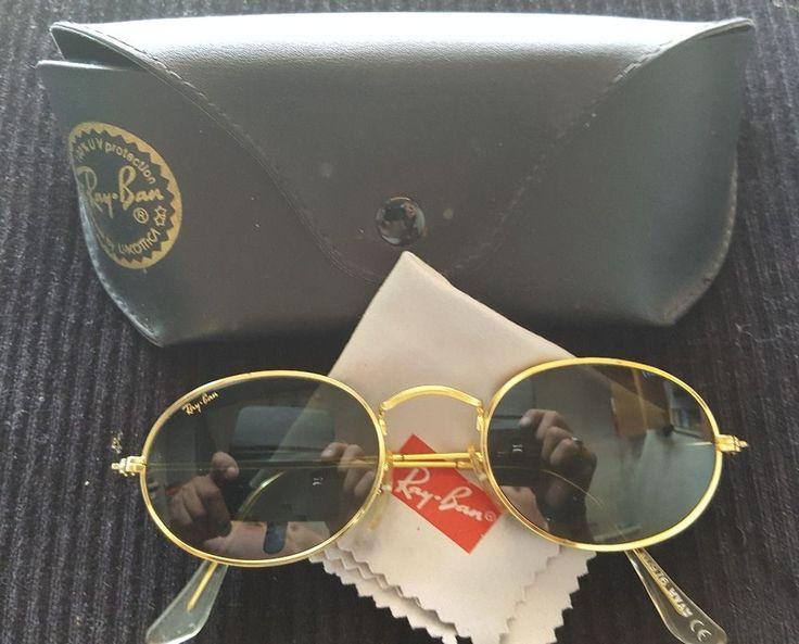RARE Vintage OVAL Ray-Ban B&L U.S.A. Bausch & Lomb W0976 24K GOLD - John Lennon #RayBan #Oval