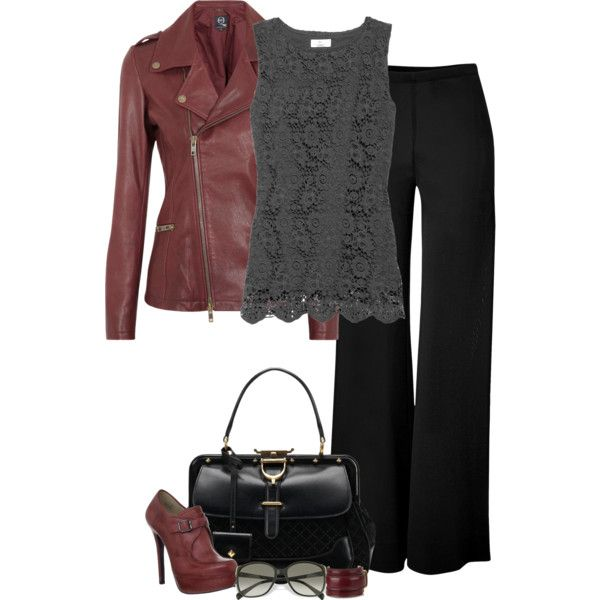"""""""Leather and Lace (III)"""" by partywithgatsby on Polyvore"""