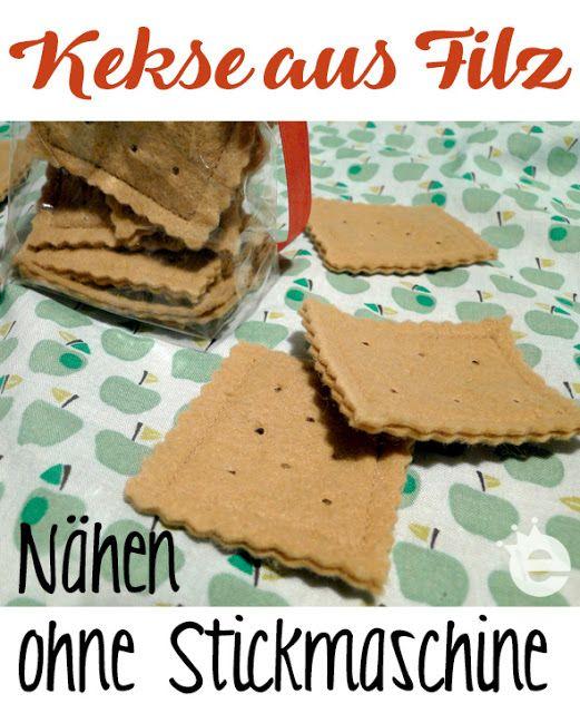 kalorienfreie Butterkekse: Kekse aus Filz nähen