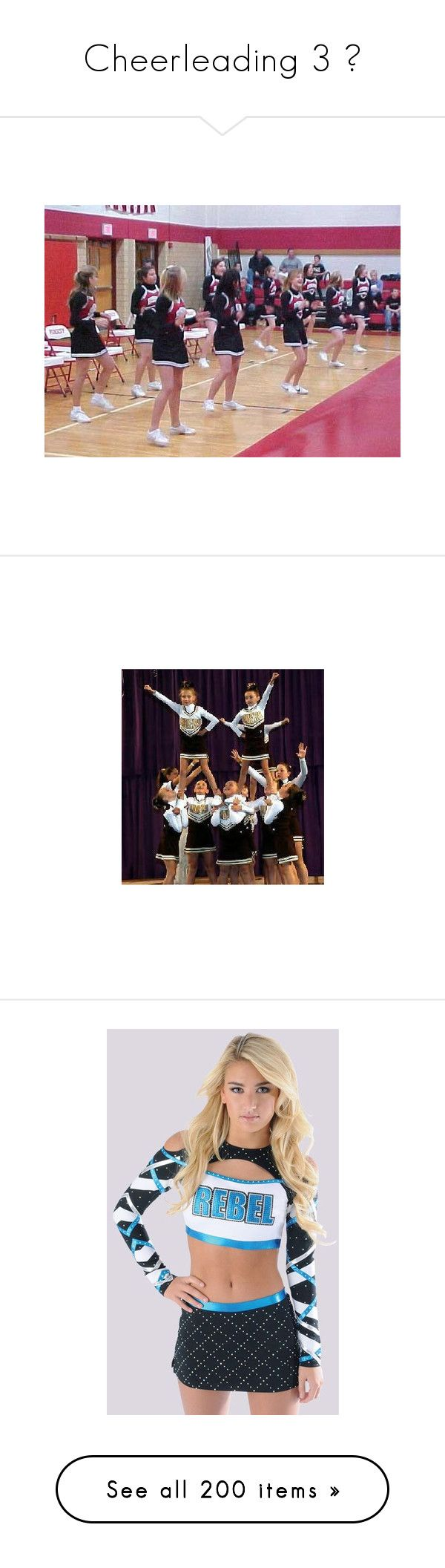 """""""Cheerleading 3 ♡"""" by southernbellewolf ❤ liked on Polyvore featuring cheer, pictures, sport, home, home decor, pewter plates, engraved plates, bags, cheerleading and sports"""