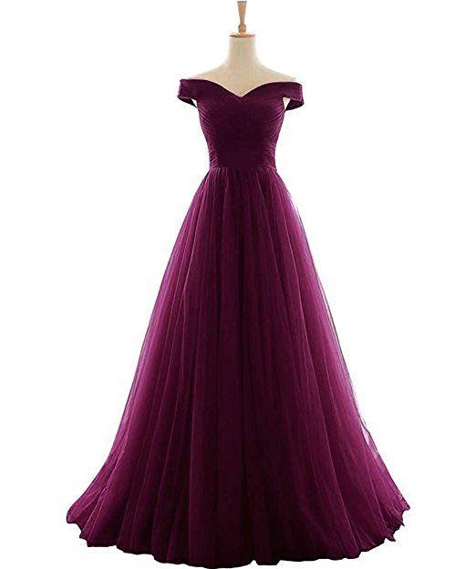 Prinzessin Kleid langes Schulter Vickyben Ab Tuell Abendkleid Damen DEWH2Y9eI