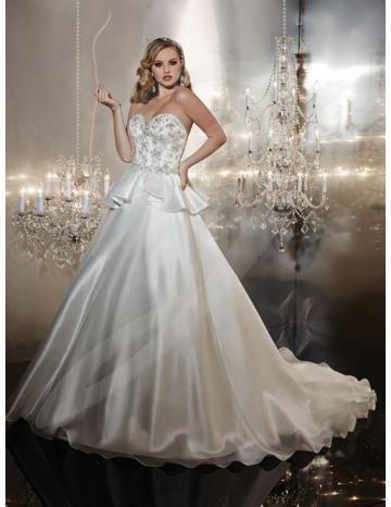 Elegante Cuore Glamour Naturale  Abiti Da Sposa Senza Spalline Vestito Da Sposa