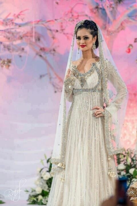 17 best images about desi bridal dresses on pinterest for White indian wedding dress