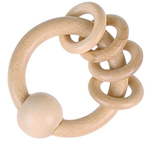 Heimess - Sonajero de madera Four Rings Natural
