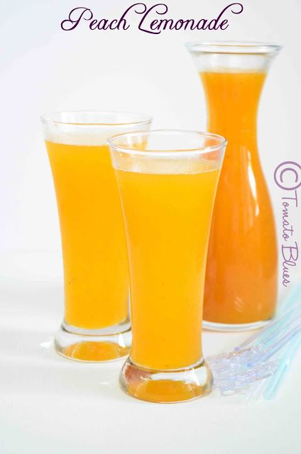 Tomato Blues: Peach Lemonade Recipe  Easy Drink Recipes