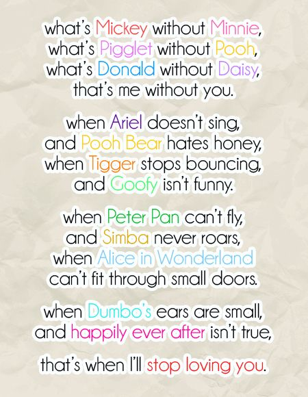 Cute Wedding Vows | ... fellow disney bride used as her vows not a un cute poem but vows