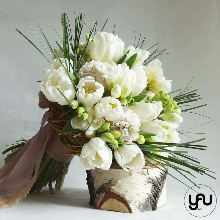 Buchet flori ALBE lalele zambile frezii | YaU Concept BLOG
