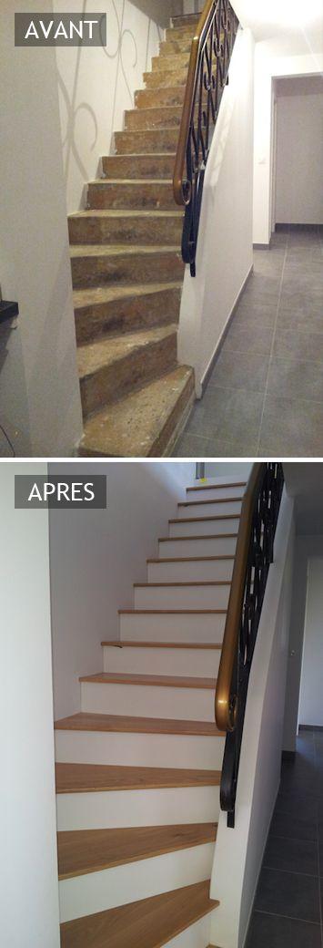 les 25 meilleures id es de la cat gorie habillage escalier sur pinterest habillage escalier. Black Bedroom Furniture Sets. Home Design Ideas