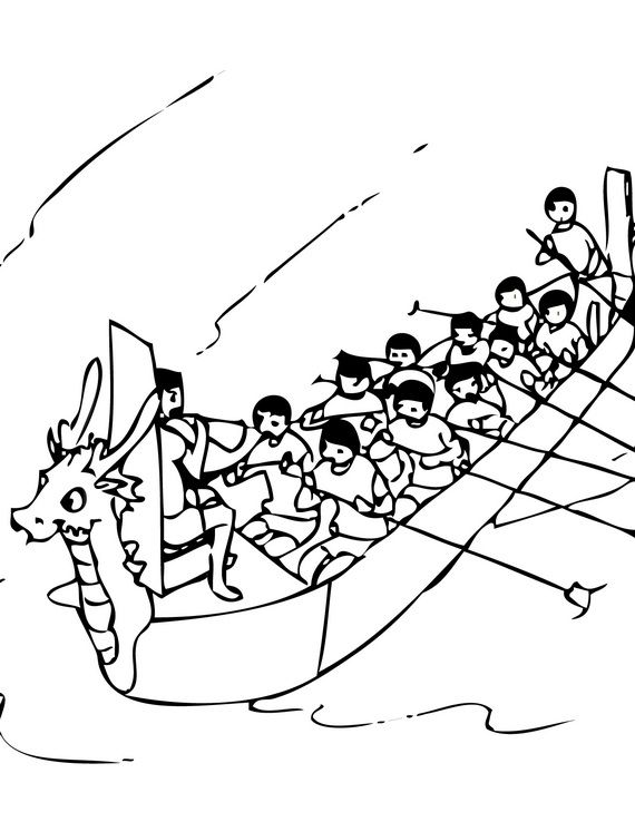 18 best dragon boat o1 images on pinterest dragon boat for Dragon boat coloring pages