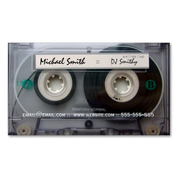 Best 25 dj business cards ideas on pinterest free business card cassette tape dj business cards make your own business card with this great design reheart Images