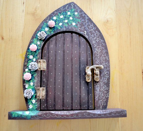 Fairy Door  fairy faerie fae pixie elf  by CrystalFairArt on Etsy
