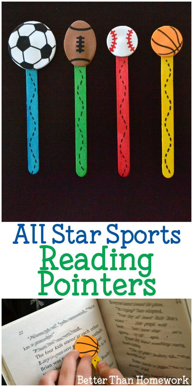 All Star Sports Reading Pointers Creative Family Fun Sport Themed Crafts School Crafts Bible School Crafts