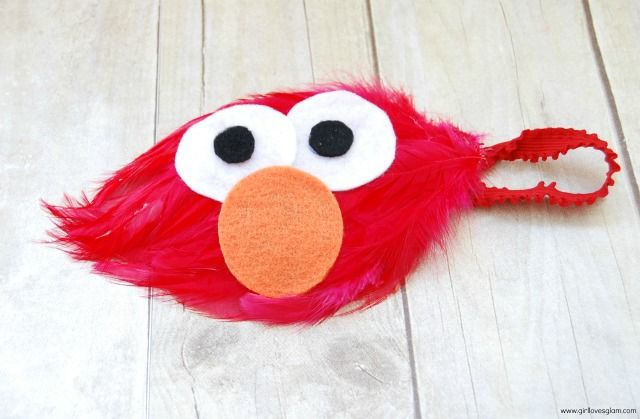 Elmo Headband Tutorial
