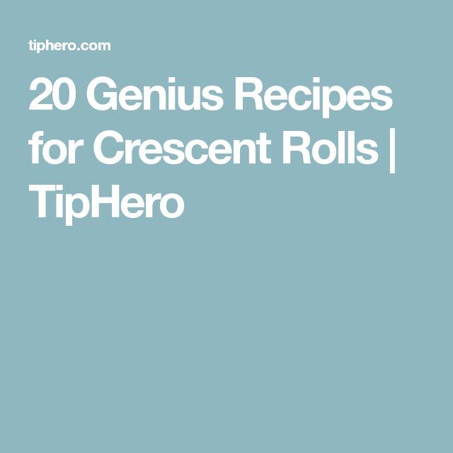 20 Genius Recipes for Crescent Rolls   TipHero