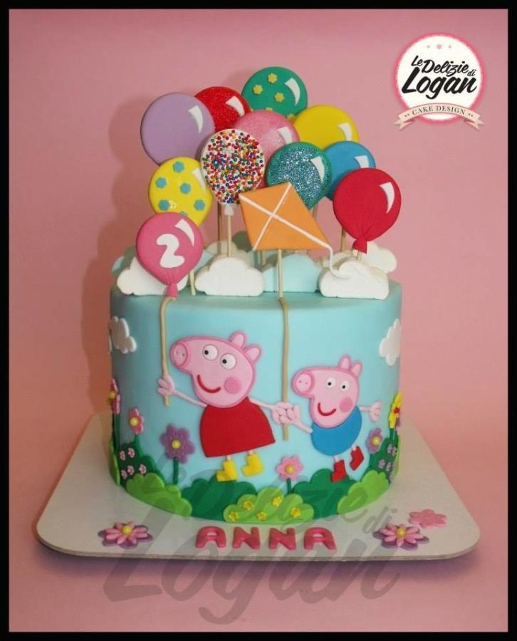 Torta dedicata al maialino più amato dai bambini.