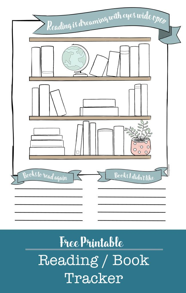 Free printable reading tracker for your planner