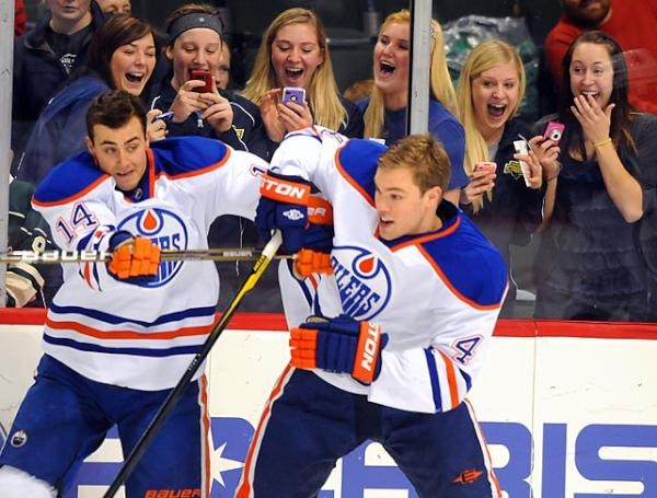 The ladies love Jordan Eberle and Taylor Hall. Ahahahahahaha! This is classic!
