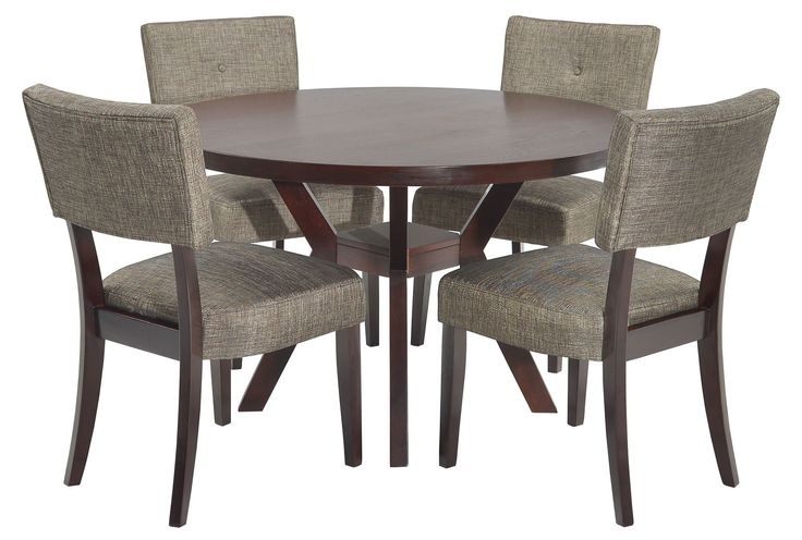 Love this modern yet classic look for an eat-in dining set