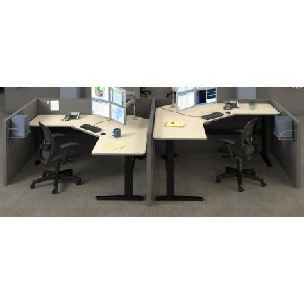 Mayline Varitask XR 5300SL -  L-shape sit-to-stand desk.  FREE shipping in Canada at Ugoburo.ca